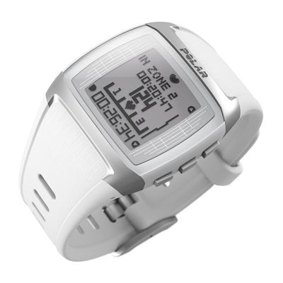Polar FT60 Male Heart Rate Monitor- White - Site View