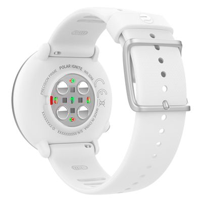 Polar Ignite GPS Fitness Watch with Heart Rate - White - Back