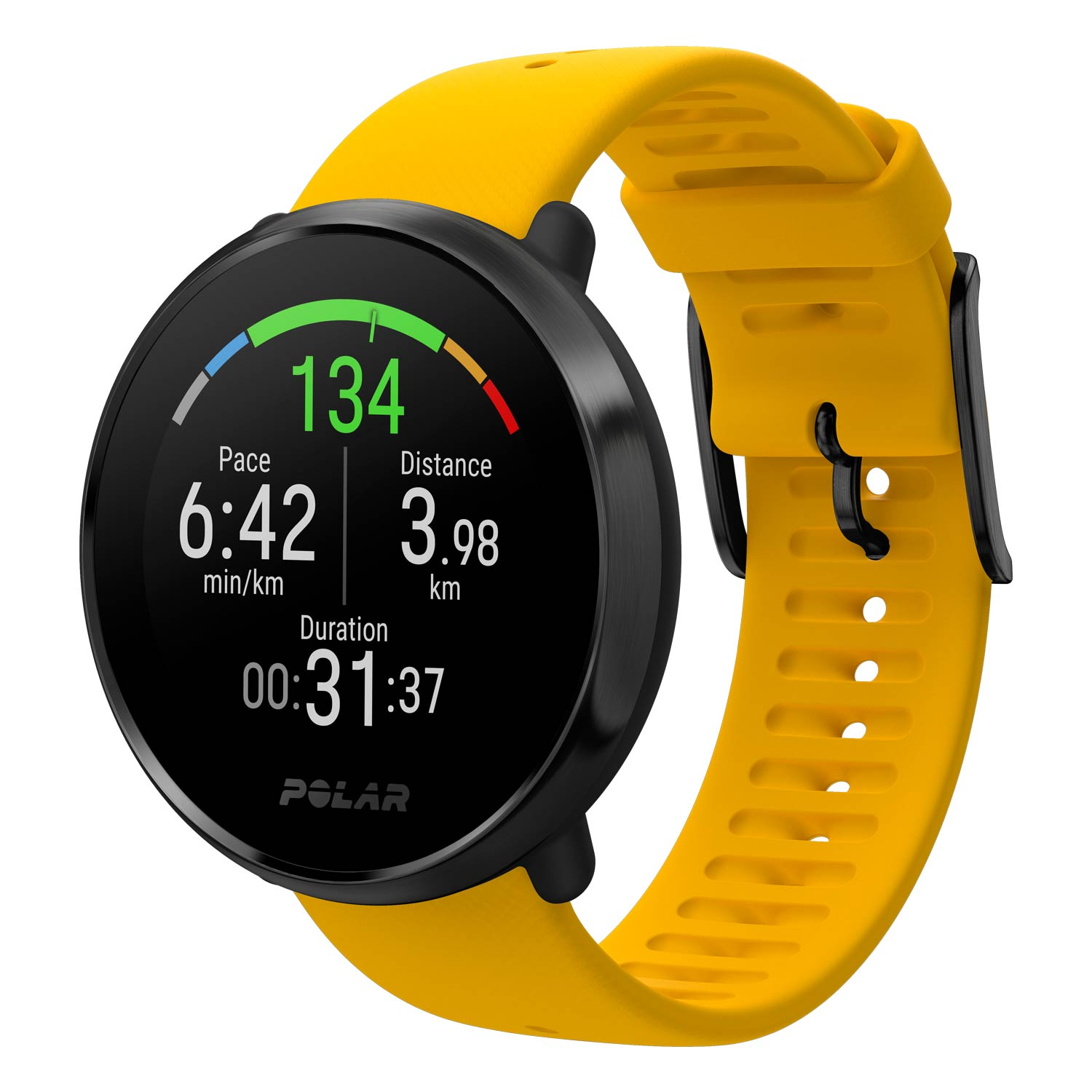 Polar Ignite GPS Fitness Watch with Heart Rate - Yellow, M / L