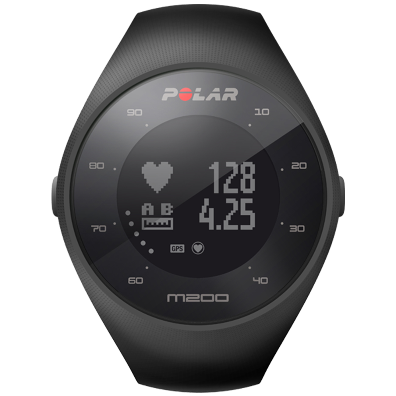 Polar M200 GPS Heart Rate Monitor Running Sports Watch  Black
