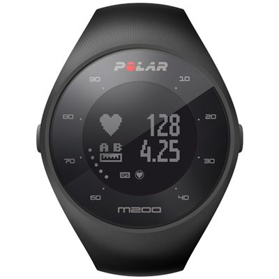Polar M200 GPS Heart Rate Monitor Running Sports Watch - Black