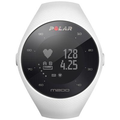 Polar M200 GPS Heart Rate Monitor Running Sports Watch - White