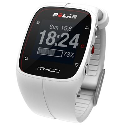 Polar M400 GPS Heart Rate Monitor - White