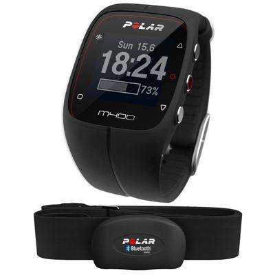 Polar M400 GPS Heart Rate Monitor - Black - Main Image