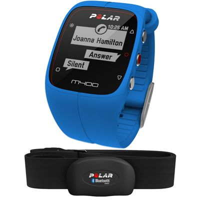 Polar M400 GPS Heart Rate Monitor - Blue - Main Image