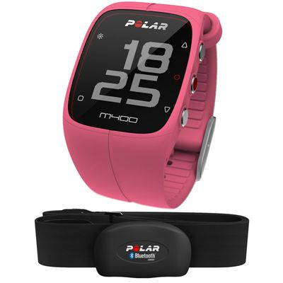 Polar M400 GPS Heart Rate Monitor - Pink - Main Image