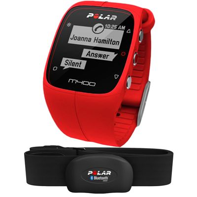 Polar M400 GPS Heart Rate Monitor - Red - Main Image
