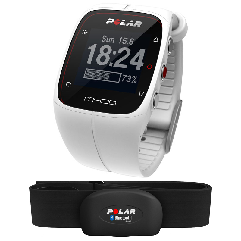 Polar M400 GPS Heart Rate Monitor  White