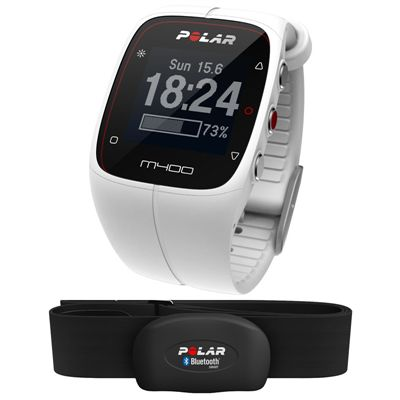 Polar M400 GPS Heart Rate Monitor - White - Main Image