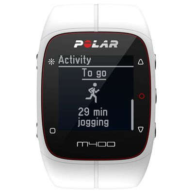 Polar M400 GPS Sports Watch - White - Front