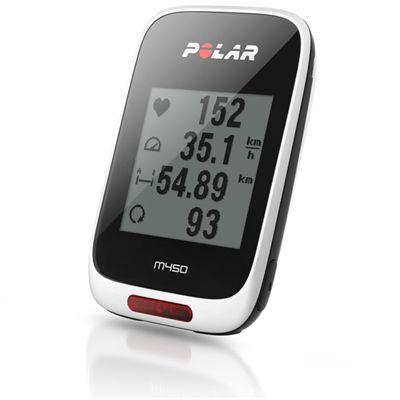 Polar M450 GPS Bike Computer with Heart Rate Sensor - Angle View