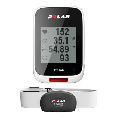 Polar M450 GPS Bike Computer with Heart Rate Sensor - Front View