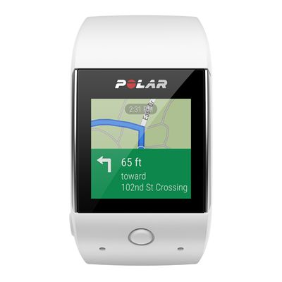 Polar M600 Heart Rate Monitor-White-Android Map