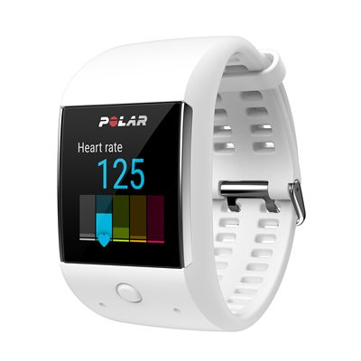 Polar M600 Heart Rate Monitor-White-Angled-HR