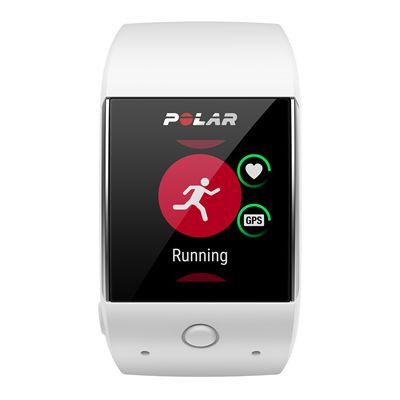 Polar M600 Heart Rate Monitor-White-Running