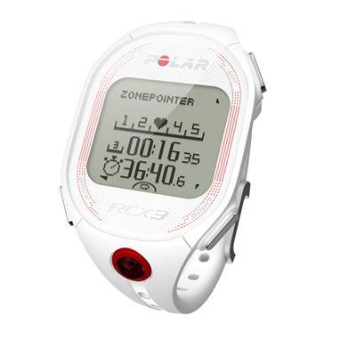 Polar RCX3 RUN Heart Rate Monitor-White-Angle-View