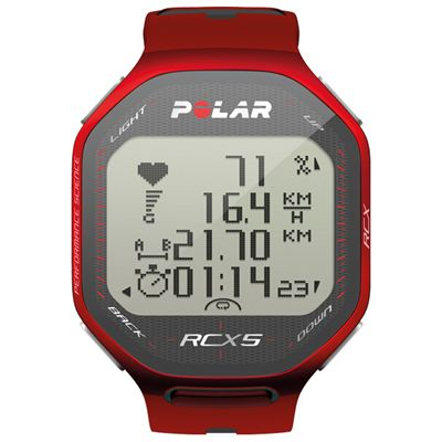 Polar RCX5 Heart Rate Monitor - Red