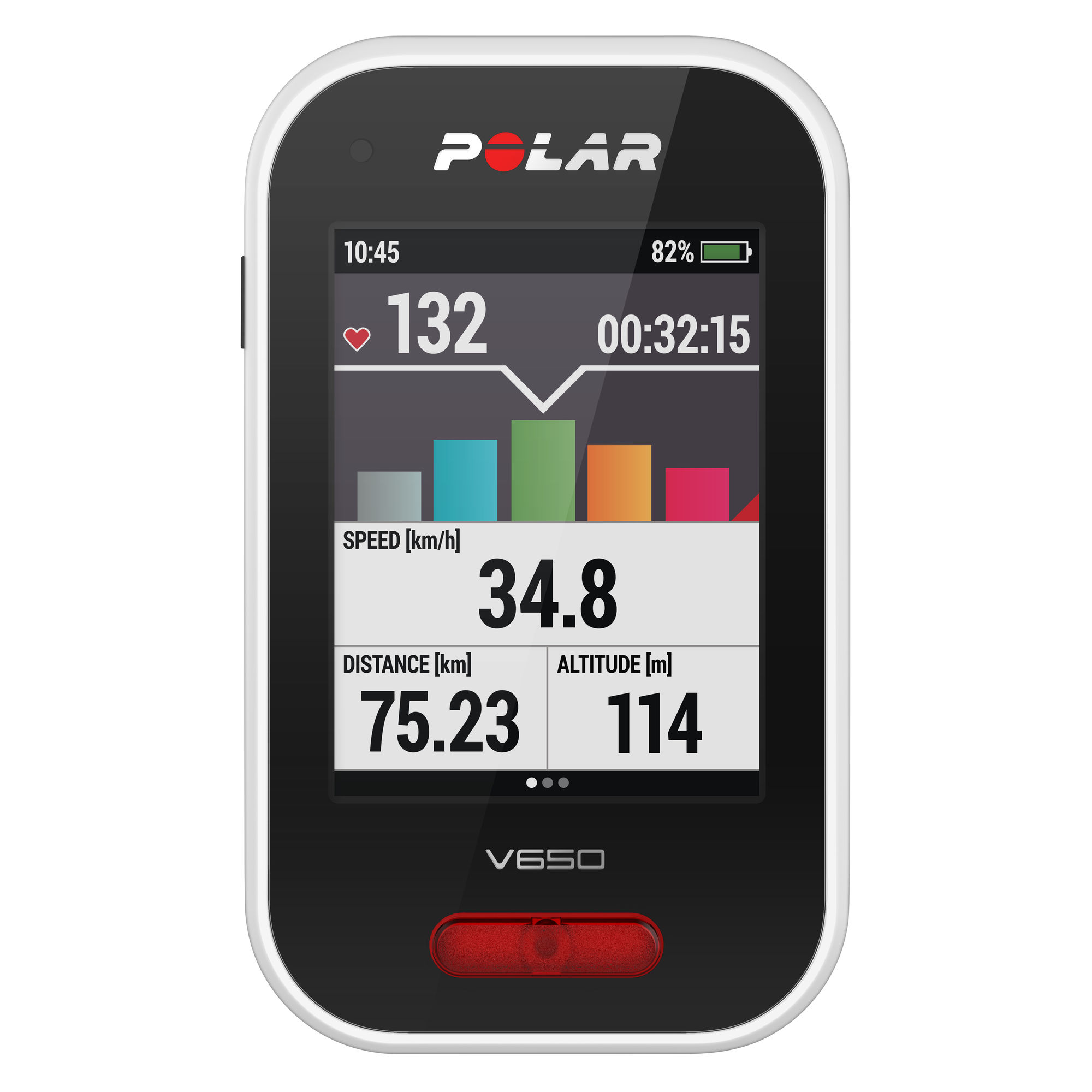 Polar V650 Cycle Computer with H6 Heart Rate Sensor