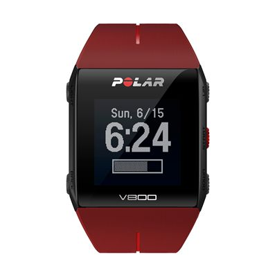 Polar V800 Heart Rate Monitor-Red-Front