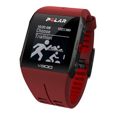 Polar V800 Heart Rate Monitor-Red-Triathlon