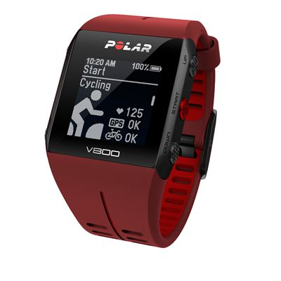 Polar V800 Combo GPS Sports Watch-Red-Cycling