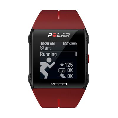 Polar V800 Combo GPS Sports Watch-Red-Running