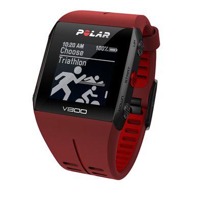 Polar V800 Combo GPS Sports Watch-Red-Triathlon