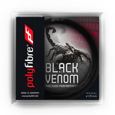 Polyfibre Black Venom Tennis String Set - 125mm