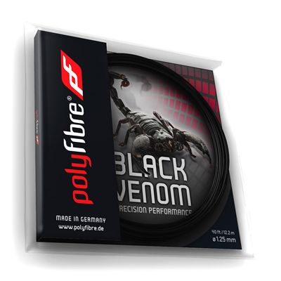 Polyfibre Black Venom Tennis String Set - 125mm Angled