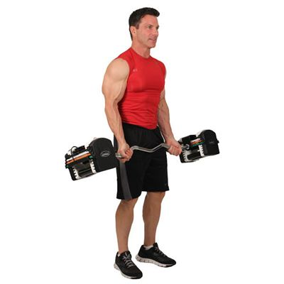 PowerBlock 46.5 Inch Urethane EZ Curl Bar fitness view