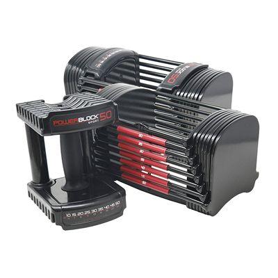 PowerBlock Elite 50 Adjustable Dumbbells 2