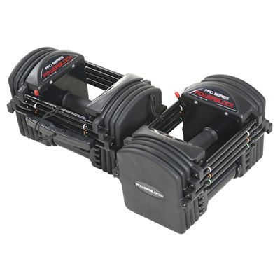 PowerBlock Pro EXP Stage 1 Adjustable Dumbbells - Above