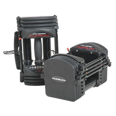 PowerBlock Pro EXP Stage 1 Adjustable Dumbbells - Standing