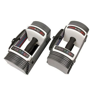 PowerBlock Sport 2.4 Adjustable Dumbbells - Above