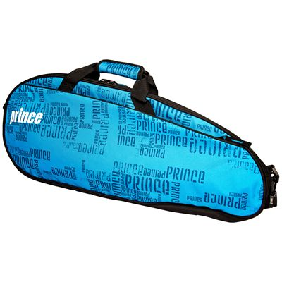 Prince Club 3 Pack Racket Bag-Black and Blue-Side A