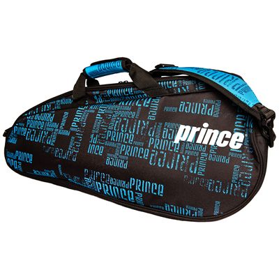 Prince Club 3 Pack Racket Bag-Black and Blue-Side B