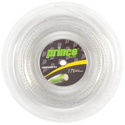 Prince Lightning XX Squash String - 100m Reel - Silver