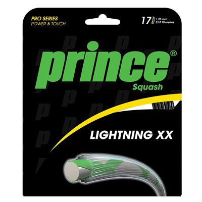 Prince Lightning XX Squash String Set - Black