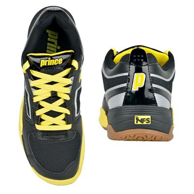 Prince NFS Assault Mens Court Shoes - Black/Yellow