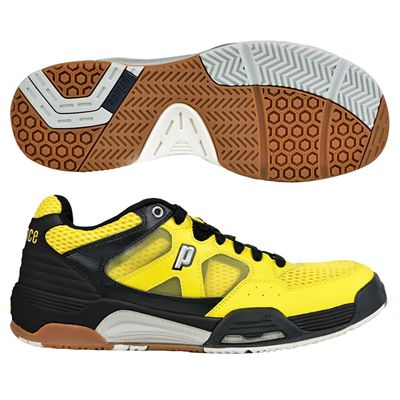 Prince NFS Attack Mens Court Shoes - Black/Yellow
