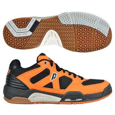 Prince NFS Attack Mens Court Shoes - Black/Orange