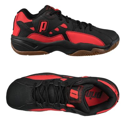 Prince NFS II Indoor Court Shoes-Black and Red-Alternative View