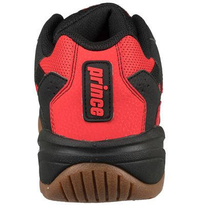 Prince NFS II Indoor Court Shoes-Black and Red-Back View