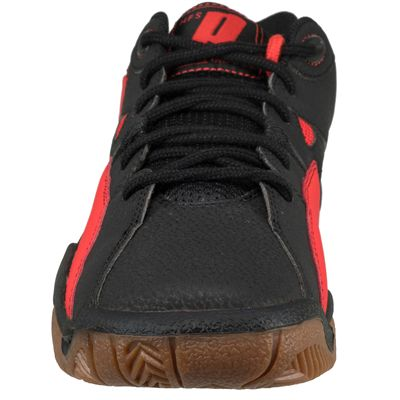 Prince NFS II Indoor Court Shoes-Black and Red-Front View