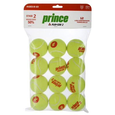 Prince Play and Stay Stage 2 Orange Dot Mini Tennis Balls - 12 Pack