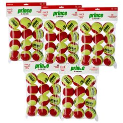 Prince Play and Stay Stage 3 Red Felt Mini Tennis Balls - 5 Dozen