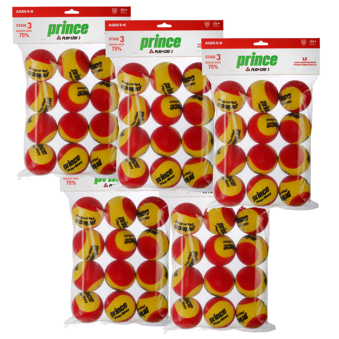 Prince Play And Stay Stage 3 Red Foam Mini Tennis Balls