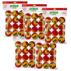 Prince Play and Stay Stage 3 Red Foam Mini Tennis Balls - 5 Dozen