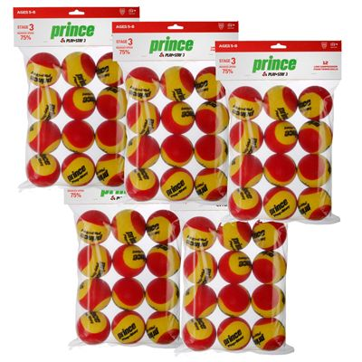 Prince Play and Stay Stage 3 Red Foam Mini Tennis Balls - 5 Dozen Main