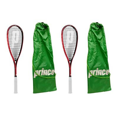 Prince Pro Airstick Lite 550 Squash Racket Double Pack - With Cover